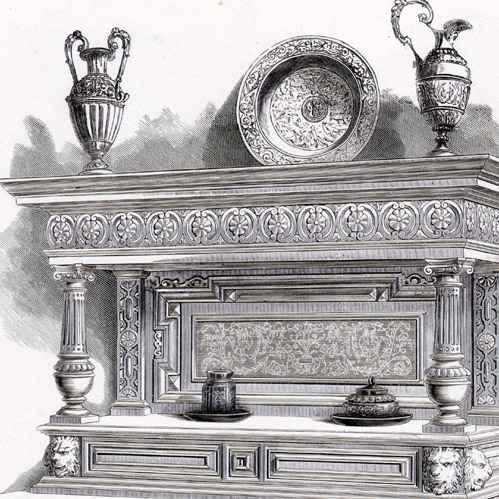 alte stiche antike m bel anrichte b ludwig wien. Black Bedroom Furniture Sets. Home Design Ideas