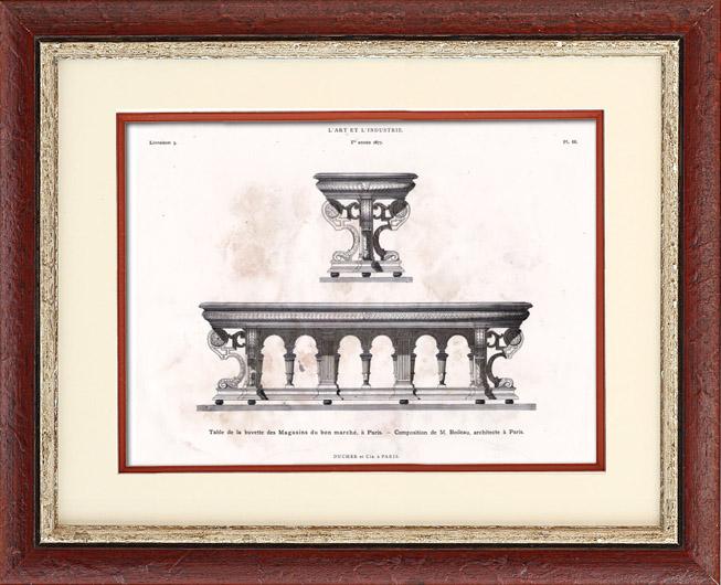 Gravures anciennes gravure de meuble ancien table for Anatomie du meuble