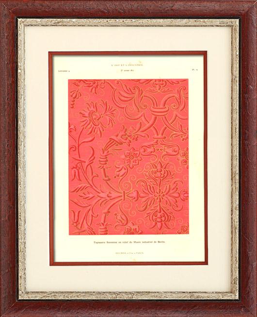 gravures anciennes gravure de tapisserie florentine en relief mus e industriel de berlin. Black Bedroom Furniture Sets. Home Design Ideas