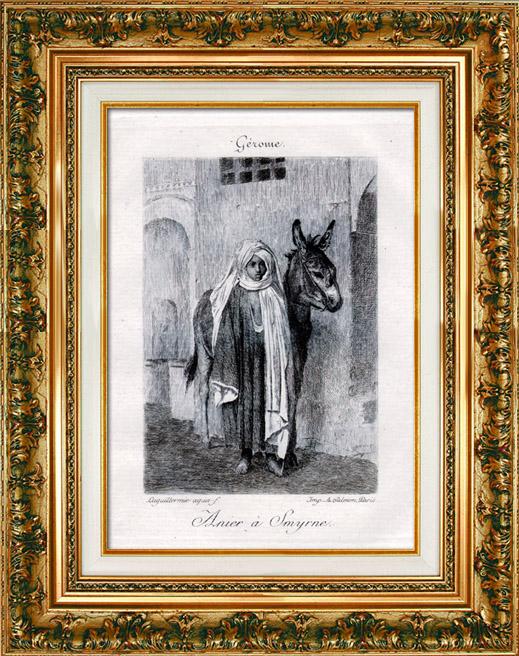 Gravures Anciennes & Dessins   Orientalisme - Turquie - Izmir - Anier à Smyrne (Jean-Léon Gérôme)   Gravure à l'eau-forte   1880