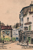 View of Paris - Old Montmartre - La Rue Norvins (France)