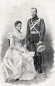 Portrait of the Emperor Nicholas II of Russia and Alexandra Feodorovna or Alix of Hesse