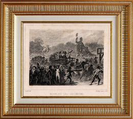 Franz�sischen Revolution - Girondisten Hinrichtung (30 Oktober 1793) - Revolutionstribunal - Handwagen - Sanson - Guillotine