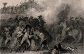 French Revolution - Deployment of the Red Flag (July 17th 1791) - People Insurgency - Champ de Mars Paris - Bailly - Lafayette