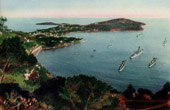 France - Côte d'Azur - French Riviera - Provence - View of Le Cap Ferrat with Warships