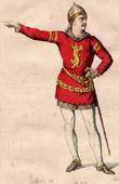 Stich von Französische Theaterkleidung - Schauspielhaus - Tragödie - Rodrigue - Le Cid (Pierre Corneille)
