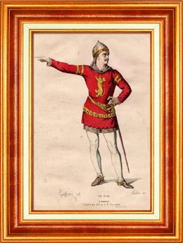Französische Theaterkleidung - Schauspielhaus - Tragödie - Rodrigue - Le Cid (Pierre Corneille)
