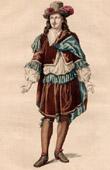 Costume du Théâtre Français - Philiste - La Veuve ou Le Traître Trahi (Pierre Corneille)