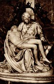 View of Rome - Italy - La Pietà Vaticana - Marble Sculpture by Michelangelo - Basilica of Saint Peter - St. Peter's Basilica - Vatican City