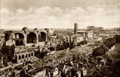 View of Rome - Italy - Basilica of Maxentius and Constantine - Basilica Nova - Roman Forum - Forum Romanum - Via Sacra