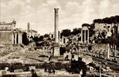 View of Rome - Italy - Forum Romanum - Via Sacra and Column of Phocas