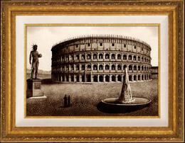 Vue de Rome - Italie - Amphith��tre de Pouzzoles - Amphith��tre de Flavius - Amphith��tre Flavien - Le Colis�e - Meta Sudans - Colosse de N�ron