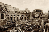View of Rome - Italy - Trajan's Market and Loggia of the Knights of Rhodes