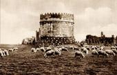 View of Rome - Italy - Caecilia Metela's Mausoleum - Cecilia Metella - Castrum Caetani - Via Appia Antica