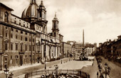 View of Rome - Italy - Circo Agonale - Fountain of the Four Rivers - Piazza Navona