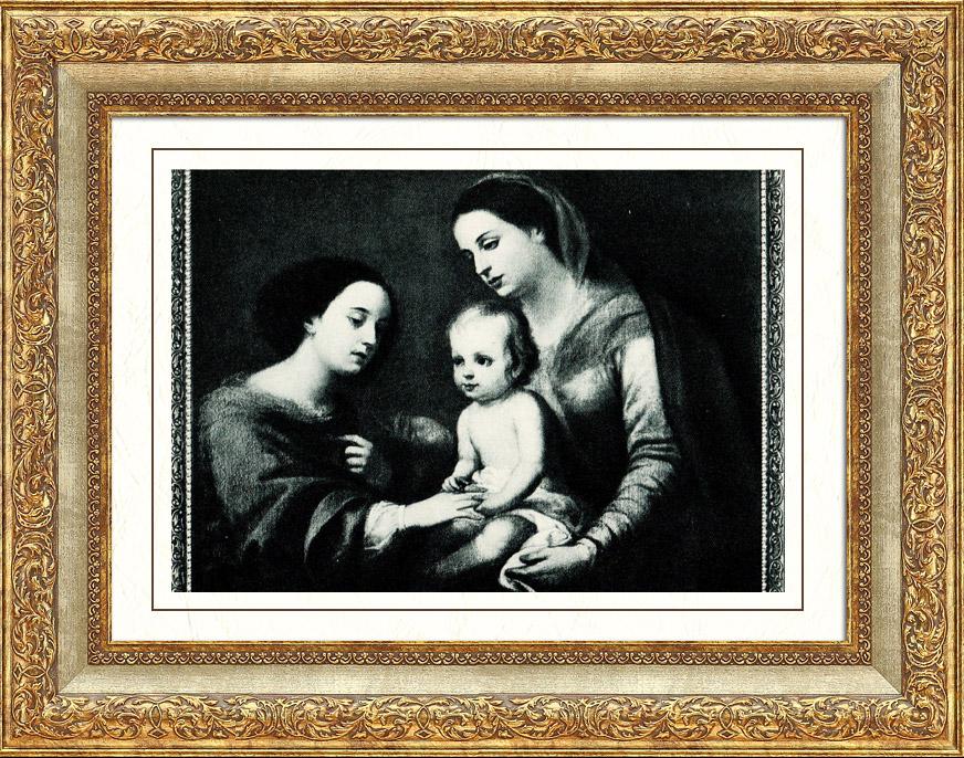 Antique Prints & Drawings | Vatican Museums - Pinacoteca Vaticana - The Mystical Marriage of Saint Catherine of Alexandria (Bartolomé Esteban Murillo) | Heliogravure | 1936
