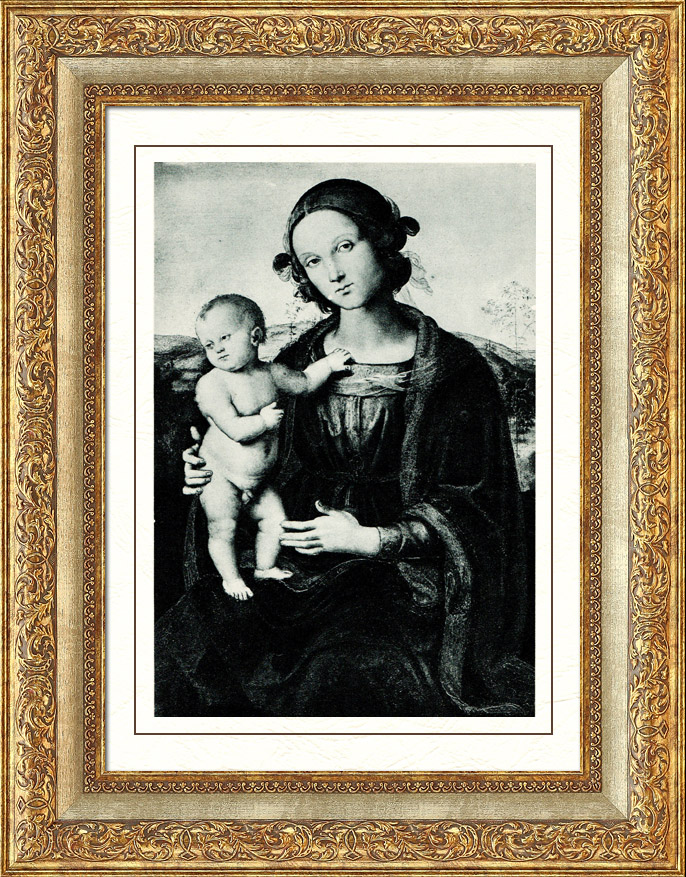Antique Prints & Drawings | Galleria Borghese - The Virgin and Child (Pietro Perugino) | Heliogravure | 1936