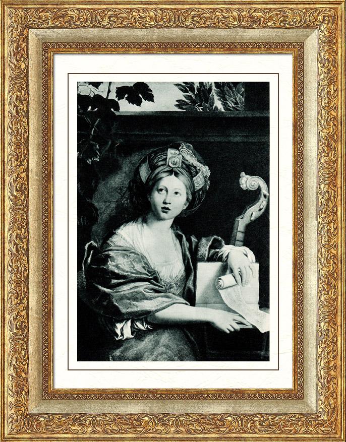 Antique Prints & Drawings | Galleria Borghese - The Cumaean Sibyl - La Sibila Cumana (Domenico Zampieri - Domenichino) | Heliogravure | 1936