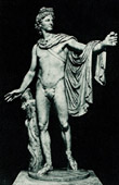 Vatican Museums - Roman Mythology - Statue - Apollo of the Belvedere also called the Pythian Apollo