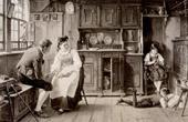 Genre Scene by Benjamin Vautier the Elder - Belauschte Werbung