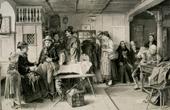 Genre Scene by Benjamin Vautier the Elder - Die Poststube