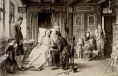 Genre Scene by Benjamin Vautier the Elder - Bange Stunde