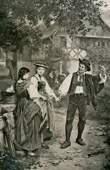 Genre Scene by Benjamin Vautier the Elder - Aufforderung zum Tanz