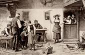 Genre Scene by Benjamin Vautier the Elder - Ein Williges Modell
