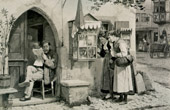 Genre Scene by Benjamin Vautier the Elder - Am Schaukasten