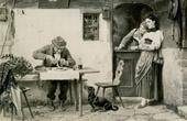 Genre Scene by Benjamin Vautier the Elder - Botaniker auf Reisen