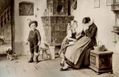 Genre Scene by Benjamin Vautier the Elder - Kindlicher Trost