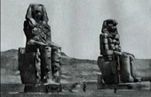 Ancient Egypt - Egyptology - Necropolis - The Colossi of Memnon - Statues of Pharaoh Amenhotep III