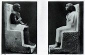 Ancient Egypt - Egyptology - The Egyptian Art - Sculpture - Statue of Rahotep - Statue of Nofret
