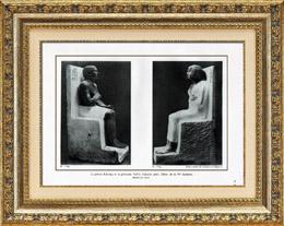 Antico Egitto - Egittologia - L'Arte Egiziana - Scultura - Statua di Rahotep e Statua di Nofret