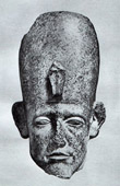 Ancient Egypt - Egyptology - The Egyptian Art - Sculpture - Head of the Statue of Senusret III - Sesostris III - Netjerkeperu (Karnak)