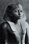 Ancient Egypt - Egyptology - The Egyptian Art - Sculpture - Statue of Amenemhat III - Amenemhet III (Hawara - Faiyum)