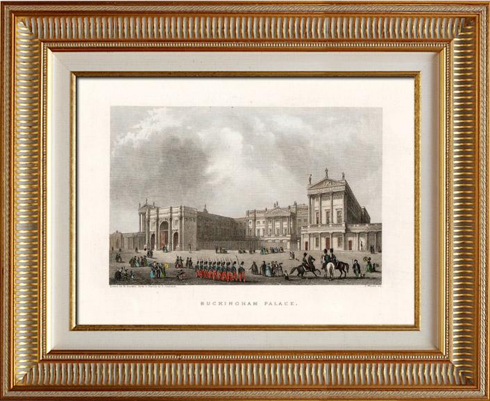Antique Prints & Drawings | View of London - England - Buckingham Palace (United Kingdom ) | Intaglio print | 1837