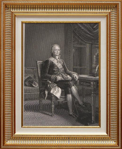 Gravures Anciennes & Dessins | Portrait de Talleyrand - Homme Politique et Diplomate Français (1754-1838) | Taille-douce | 1840