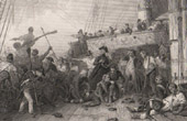 Sea British Royal Navy - L'Algesiras - Death of the Admiral Magon (1805)