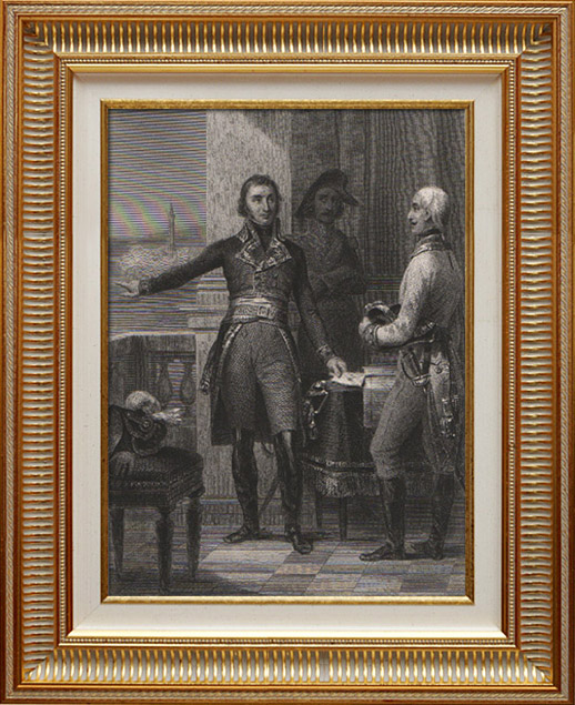 Gravures Anciennes & Dessins | Portrait de Masséna au Siège de Gênes - Duc de Rivoli et Prince d'Essling (1769-1815) | Taille-douce | 1840