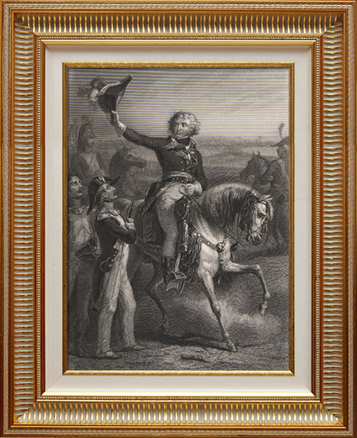 Antique Prints & Drawings | Portrait of Jean-Baptiste Kléber - French General - Napoleonic Campaign in Egypt - Battle of Heliopolis (1753-1800) | Intaglio print | 1840