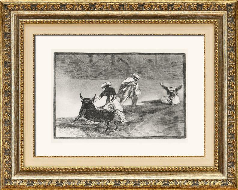 Gravures Anciennes & Dessins   La Tauromachie - Corrida en Espagne - Torero Maure  (Francisco de Goya y Lucientes)   Héliogravure   1963
