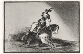 Bullfighting - Tauromachy - Corrida in Spain - Torero - Charles V of Spain killing a Bull in Valladolid (Francisco de Goya y Lucientes)
