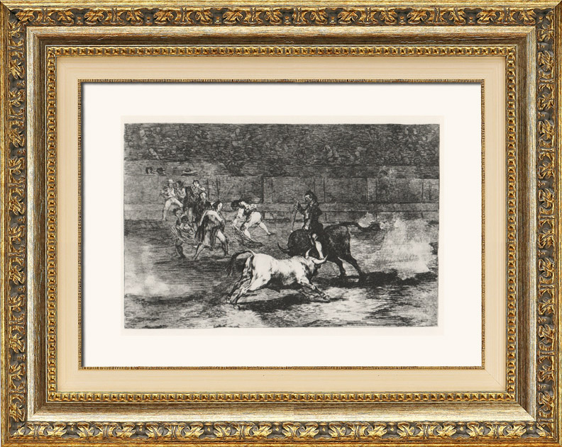 Grabados antiguos la tauromaquia corrida de toros en espa a madrid torero mariano - Muebles mariano madrid ...