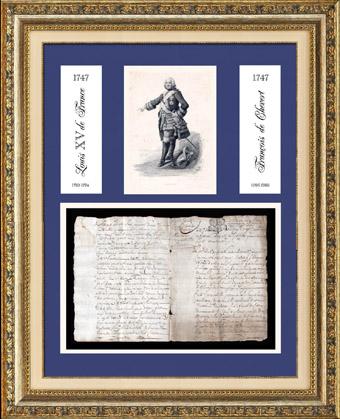 Historisches Dokument - Herrschaft von Ludwig XV von Frankreich - 1747 - Fran�ois de Chevert : General von Ludwig XV