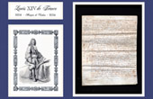 Historical Document on Parchment - Reign of Louis XIV of France - 1654 - Vauban becomes Engineer of the King