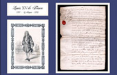 Historical Document - Reign of Louis XV of France - 1717 - Regent Philippe Charles d'Orléans