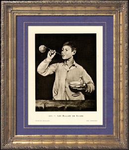 Las Burbujas de Jab�n - Les Bulles de Savon (Edouard Manet)