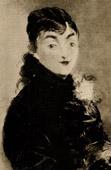 Mery Laurent - La Femme au Carlin - Mery Laurent au Carlin - Femme en Corsage noir tenant un Chien (Edouard Manet)