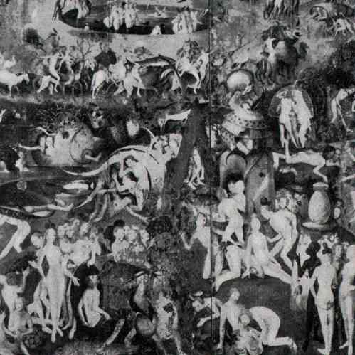 Gravures anciennes triptyque le jardin des d lices - Le jardin des delices de jerome bosch ...